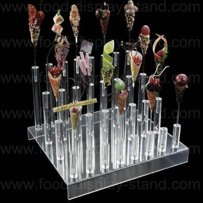 Acrylic ice cream cone holder stand